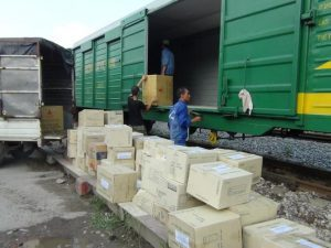 Quy trình vận tải hàng hóa bằng đường sắt