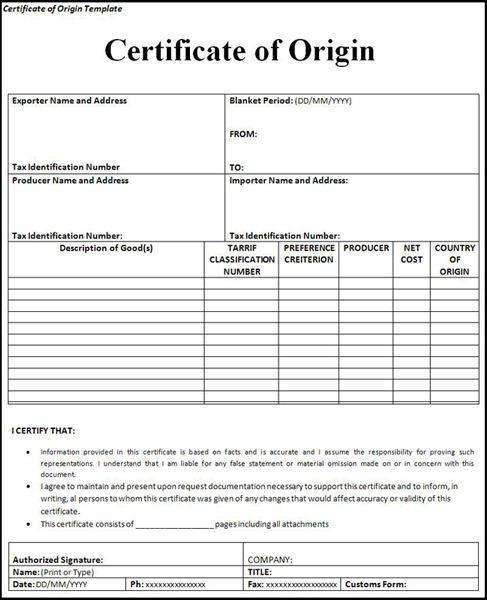 Thủ tục cấp giấy chứng nhận xuất xứ cho doanh nghiệp xuất khẩu