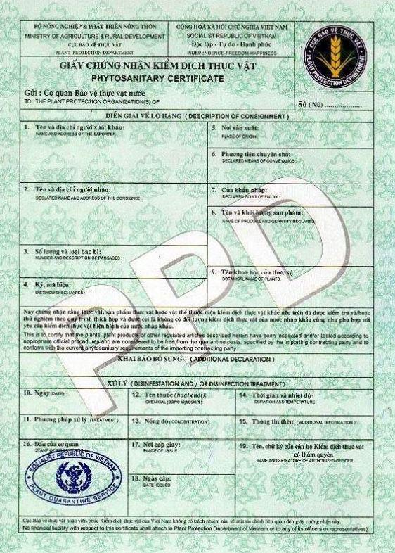 Thủ tục cấp giấy phép kiểm dịch thực vật nhập khẩu của Cục Bảo vệ thực vật