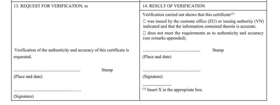 Hướng dẫn kê khai C/O form EUR.1 của Việt Nam